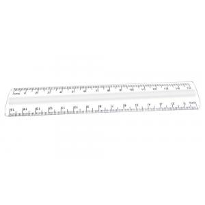 Plastic Ruler, Transparent,15cm/6""
