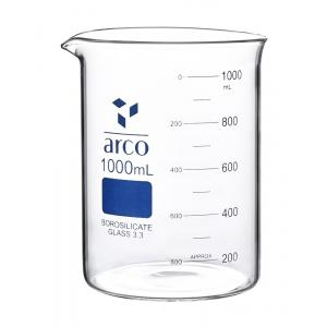 Arco Beaker, Borosilicate 3.3, Low Form, Capacity-600ml