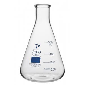 Arco Erlenmeyer Flask, Narrow Mouth, Borosilicate 3.3, Capacity : 50ml