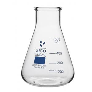 Arco Erlenmeyer Flask, Wide Mouth, Borosilicate 3.3, Capacity : 500ml