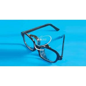 Safety Goggles, Clear Plastic, Black Frame