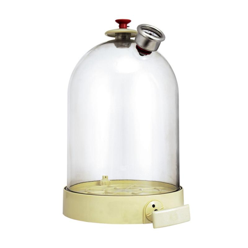 BELL JAR WITH VACUUM PUMP HAND OPERATED